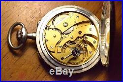 Vacheron Constantin Antique pocket watch Niello solid silver