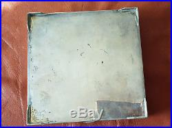 Very Rare Large Antique Solid 84 Persian Silver Box 627 G