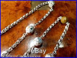 Victorian Solid Silver Granite Necklace