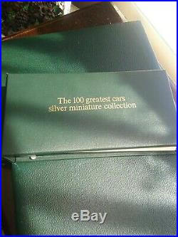 Vintage 1975 Solid Silver History of Cars Ingots collection, two sets. Stunning