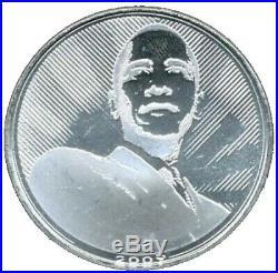 Vintage 2009 Solid Silver Barack Obama 1 Troy Oz. 999 Fine Silver Round
