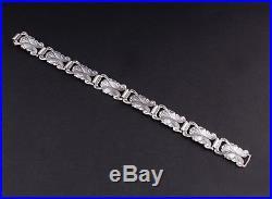Vintage C. Mich Solid Silver Bracelet 830S. DENMARK. Christian Michelsen