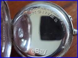 Vintage Longines pocket chronograph solid silver case amazing condition rare