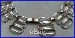 Vintage Mid Century Modernist Solid Sterling Silver 835 Necklace or Choker