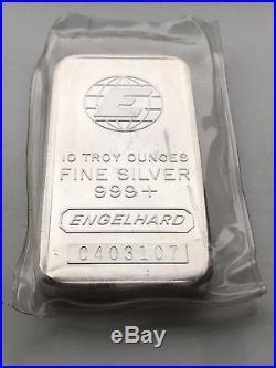 Vintage Sealed Engelhard 10 Oz. 999 Solid Silver