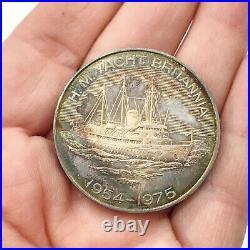 Vintage Solid Silver Token Coin 1975 Spink Hms Yacht Britannia Bullion