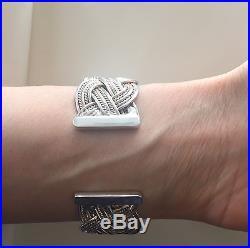 Vintage T&CO 925 Solid Silver Ladies Cuff Bracelet