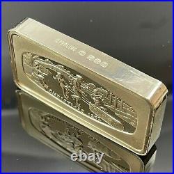 Vintage The Franklin Mint Christmas 1972 Solid Sterling Silver Bar 1000 Grains