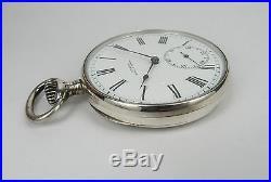 Vintage ULYSSE & NARDIN pocket watch, O, 900 solid silver, excellent