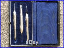 Vintage solid silver players darts Hallmarked Barrels and Stems