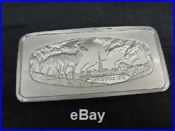 Vtg Lot 5 Franklin Mint Solid Sterling Silver. 999 Ingots Christmas 1973-1978
