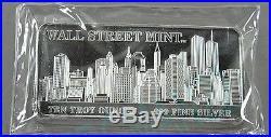 Wall Street Mint 10oz Solid Silver Bar Rare Version 2