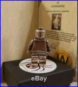 WillsAttic Solid. 999 Fine Silver MOVABLE Figurine withCOA, FS! 2015, USA