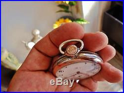 Wonderful OMEGA POCKET vintage Swiss watch (solid silver+gold)