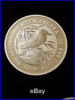 X5 2009 Perth Mint Australian Kookaburra 1 Oz Solid Fine Silver 999 Bullion Coin