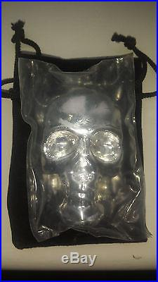 Yeagers Poured Silver 10 OZ 3D Skull Solid Silver 999 Fine Serial Number 0356
