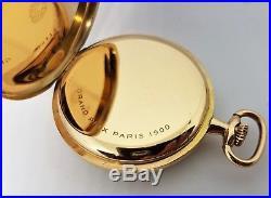 Zenith Pocket Watch 14K Solid Gold 48mm SPECIAL Silver Sunburst Dial